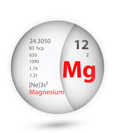 Magnesium icon in badge style. Periodic table element Magnesium icon. One of Chemical signs collection icon can be used for UI/UX on white background. Illustration