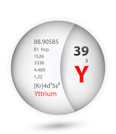Yttrium icon in badge style. Periodic table element Yttrium icon. One of Chemical signs collection icon can be used for UIUX on white background.