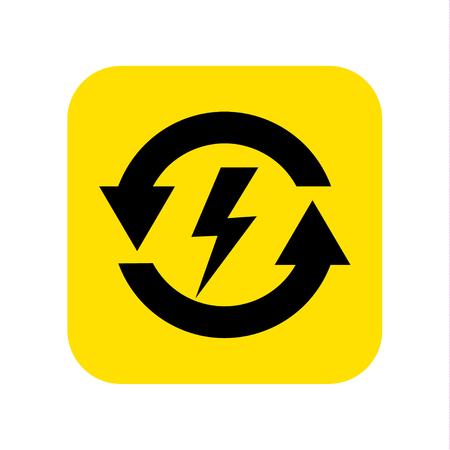 Electric power icon vector. Vector illustration.