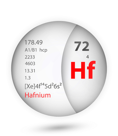 Hafnium icon in badge style. Periodic table element Hafnium icon. One of Chemical signs collection icon can be used for UI/UX on white background.