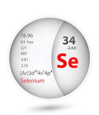 Selenium icon in badge style. Periodic table element Selenium icon. One of Chemical signs collection icon can be used for UIUX on white background.