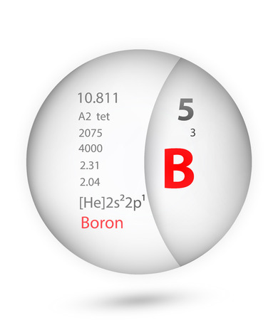 Boron icon in badge style. Periodic table element Boron icon. One of Chemical signs collection icon can be used for UI/UX on white background.