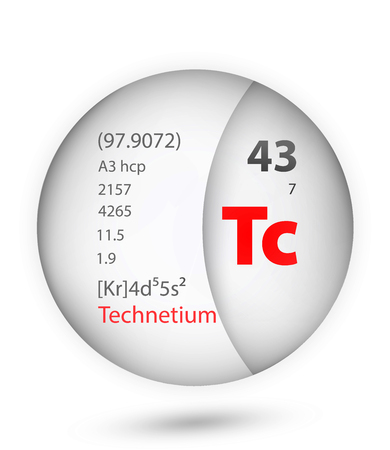 Technetium icon in badge style. Periodic table element Technetium icon. One of Chemical signs collection icon can be used for UI/UX on white background.