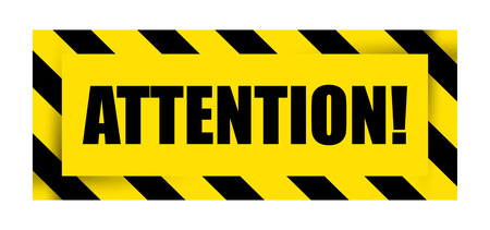 Attention Sign Icon. Vector illustration. Illustration
