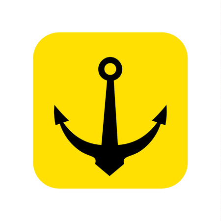 Anchor icon vector. Vector illustration.
