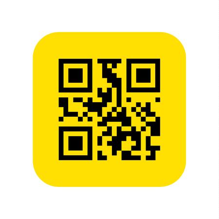 QR code icon vector. Vector illustration.