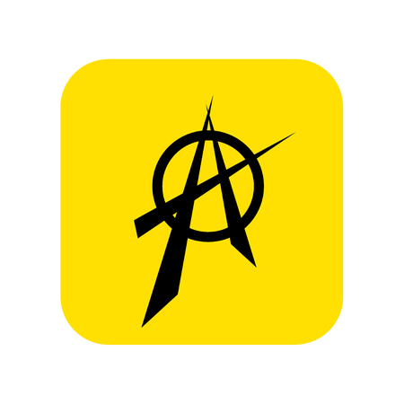 Anarchy sign icon vector. Vector illustration.