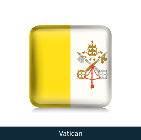 Vatican - Square glossy badge. Vector.
