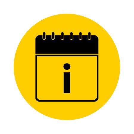 Letter I Day Calendar Yellow Vector Icon - Calendar design template - Business vector illustration.