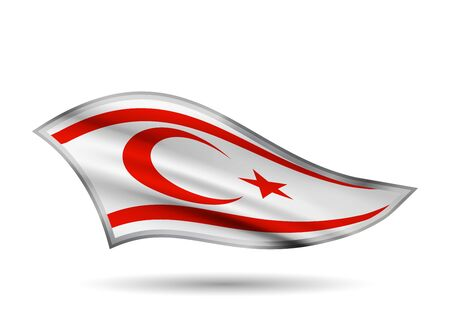 Waving Flag of Northern Cyprus. Cap-band stylized.