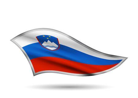Waving Flag of Slovenia. Cap-band stylized.
