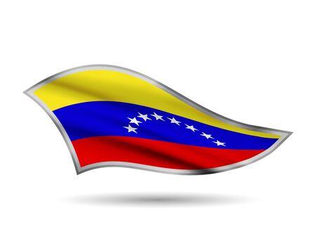 Waving Flag of Venezuela. Cap-band stylized. Иллюстрация