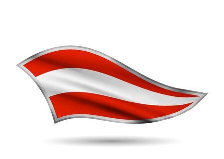 Waving Flag of Austria. Cap-band stylized.