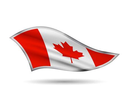 Dynamic Waving Flag of Canada. Cap-band stylized.