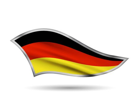 Waving Flag of Germany. Cap-band stylized. Иллюстрация