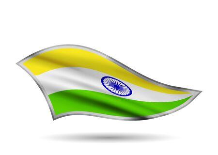 Waving Flag of India. Cap-band stylized. Иллюстрация