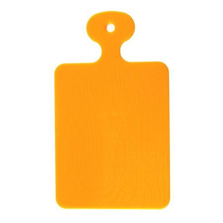 Plastic cutting Board for products isolated on a white background. Items for cooking. Kitchen utensils.