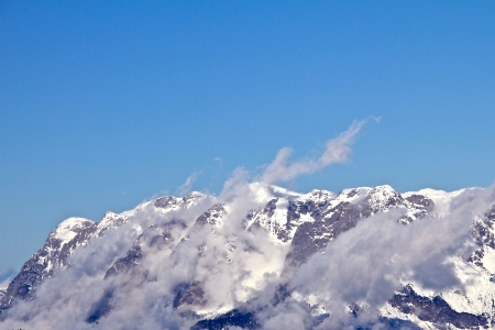 mountain in the winter photo