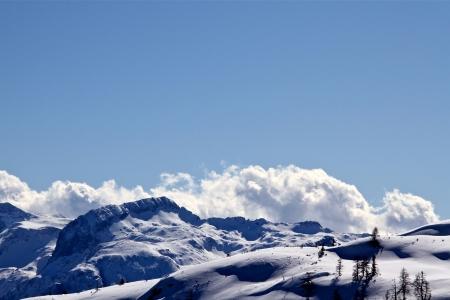Berg im Winter Lizenzfreie Bilder