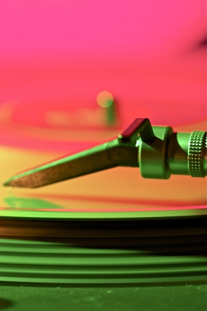 this is a part or a detail of a turntable Stock Photo