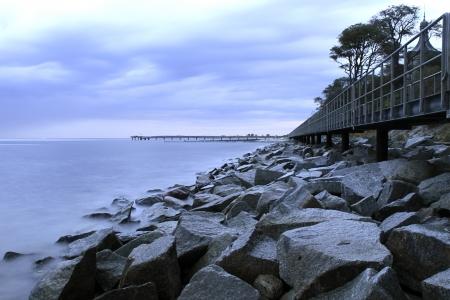 la costa este de alemania en el octubre Foto de archivo