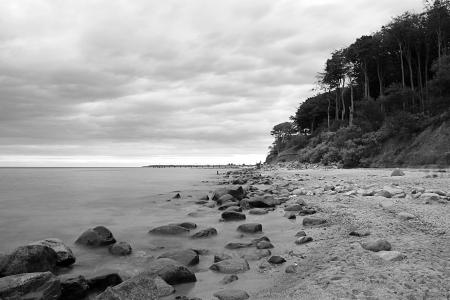 la costa este de Alemania en octubre Foto de archivo