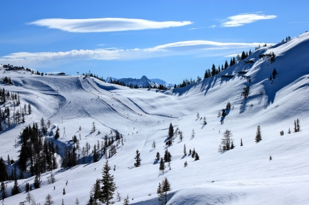 mountain a nice winter landscape photo