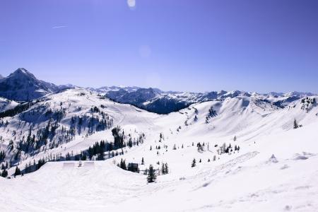 wonderful winder landscape in the mountain Stock Photo