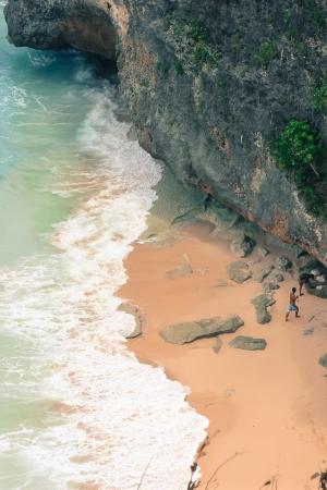 the beach of the ocean Stock Photo