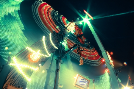 carrousel: this is a carrousel in the night