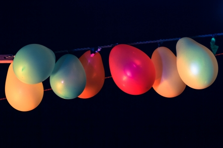 a air balloon in the night Stock Photo
