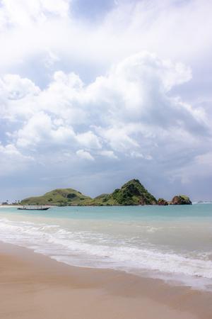 hot summer: a beach of the ocean on a hot summer day