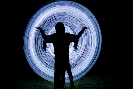 cheerfully: a little light show in the dark night
