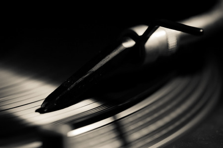 a turntable in the night