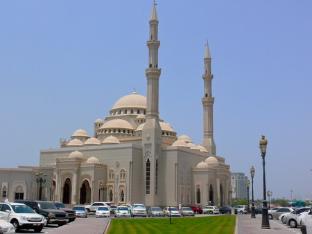 popular: The famous mosque sits along the coastline of Dubai and is open to muslim and non-muslim visitors.