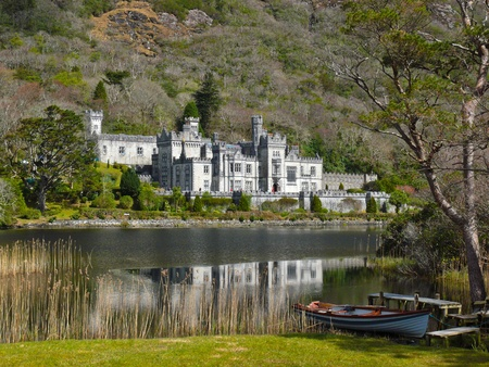 Kylemore Abbey, Galway.  Irelands picturesque abbey is a popular tourist destination run by Benedictine nuns.