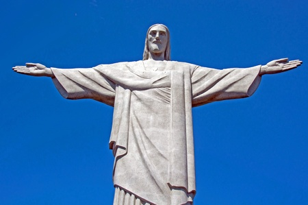 Christ the Redeemer Statue, Rio de Janeiro.This famous statue sits atop Corcovado Mountain and looks out over the city. Stock Photo - 10401975