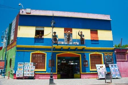 la: Bunte Souvenirshop in La Boca, Buenos Aires, Argentinien Editorial