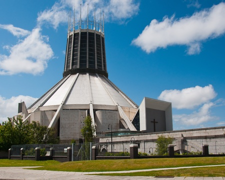 Liverpool cath�drale m�tropolitaine, Angleterre Banque d'images