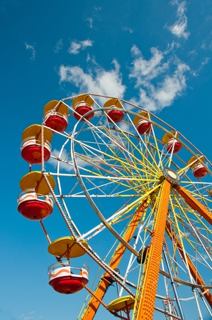Colorful ferris wheel at carnival in North Carolina Stock Photo