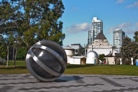 The Neutrino sculpture at Observatory Gate