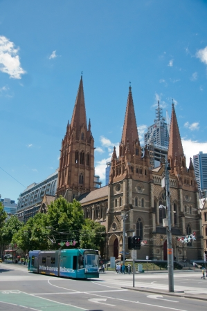 Landmark Anglican cathedral in the city center Editorial