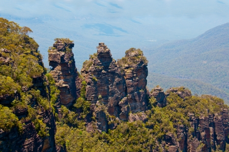 Scenic view of the Three Sisters, Blue Mountains, Australia