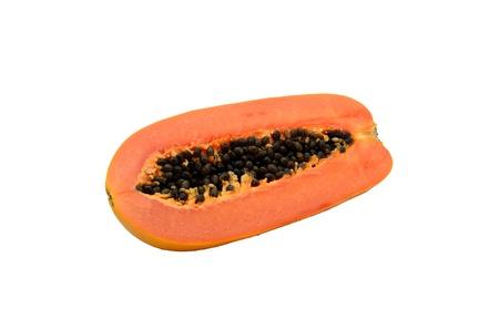 cutaneous: papaya isolated on white Stock Photo