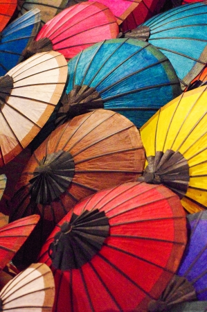 Handmade laos umbrella