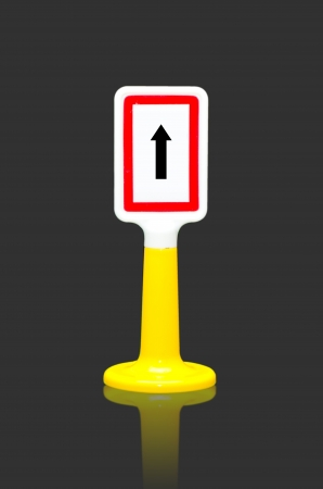One way traffic sign toy photo