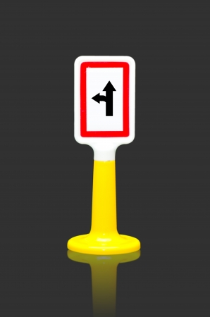 Left turn split Traffic sign toy photo