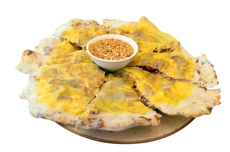 banh xeo, vietnamese pizza, vietnamese crispy pancake, vietnamese cuisine Stock Photo - 21728400
