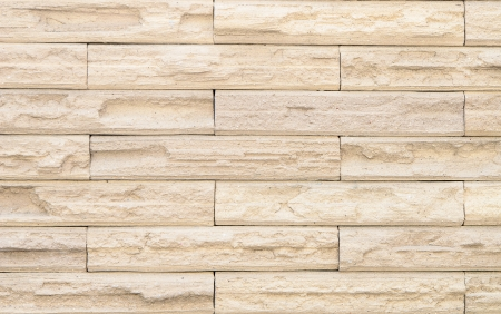 wall design: Beige brick wall design as mortar background texture