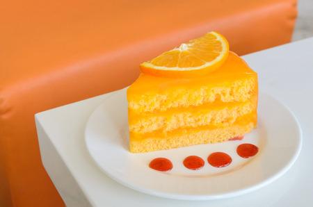 orange cake: Orange Cake on white table
